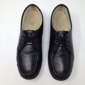 SAS Siesta Hand Sewn Comfort 10 Black Leather Shoe